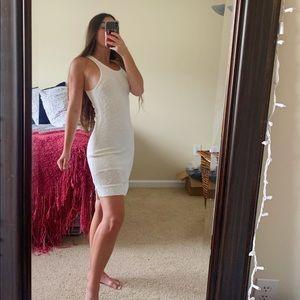 Rag & Bone Bridget Knit Cream Asymmetric Dress M